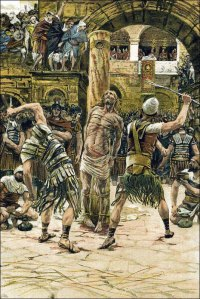 Jesus Is Flogged in the Face
